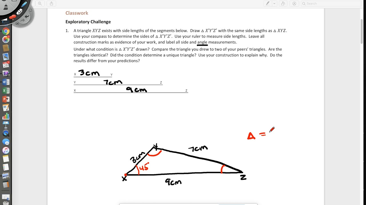 small resolution of Conditions for a Unique Triangle (examples