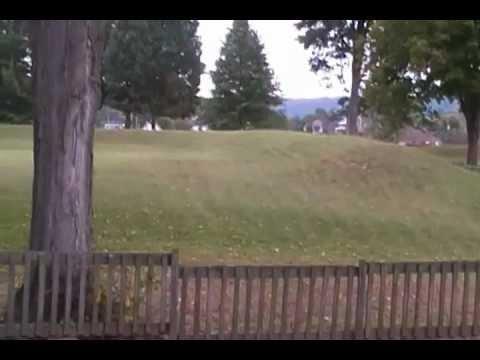 ruins of Adena Earthworks at Portsmouth,Ohio-Horseshoe mound.