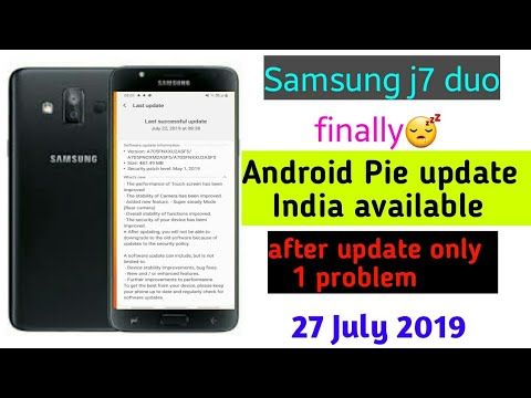 Samsung j7 duo finally Android Pie update India available new feature