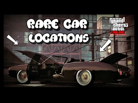 *NEW* GTA 5 ONLINE ALL VERY RARE CAR LOCATIONS!! (RARE AND SECRET VEHICLES) 30 + VEHICLES