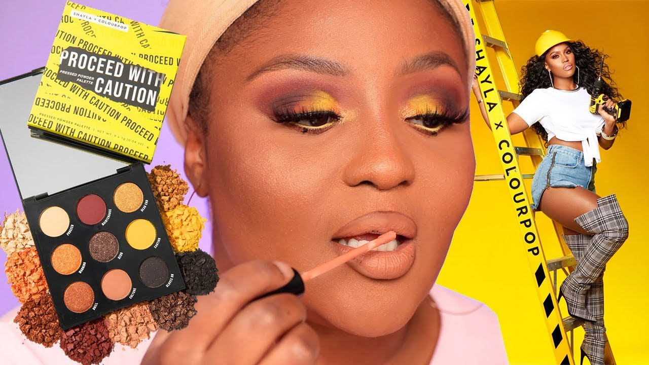 Makeup Shayla X Colourpop Proceed With Caution Babygiiiiirl Youtube