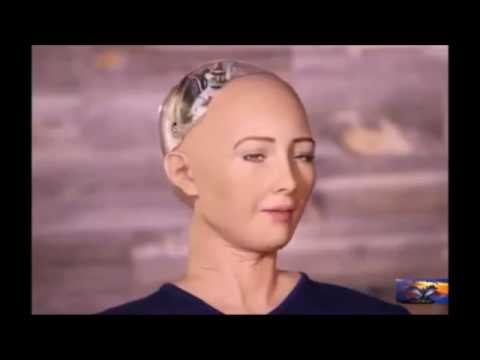 Charlie Rose & Sophia the AI robot that wants to destroy humans