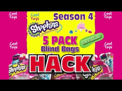 Season 4 SHOPKINS HACK 5 PACK BLIND BAGS Unveiling Hidden Shopkin by CoolToys