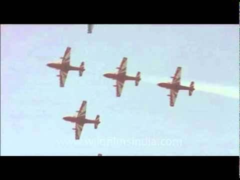 Aerial display on Indian Air Force Day