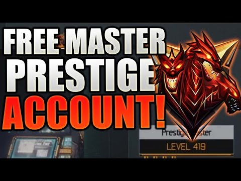 Call Of Duty Black Ops 3 -  FREE MASTER PRESTIGE ACCOUNT MAXED OUT DARK MATTER (Giveaway)