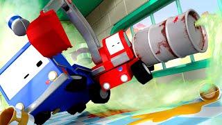 The Garage - Tiny Trucks for Kids with Street Vehicles Bulldozer, Excavator & Crane