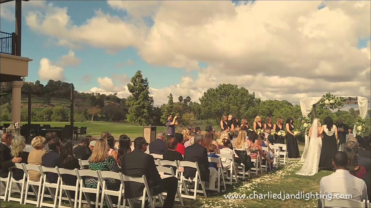 Charliedjandlighting Wedding Ceremony Aliso Viejo Country Club California