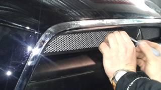 Защитная сетка радиатора Mitsubishi Lancer X 2012 2 шт  chrome