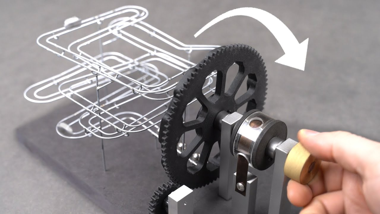Making a WIND-UP Marble Machine!