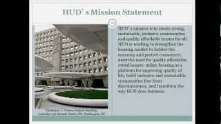 Partners in Housing: Multifamily Preservation Training, Lesson 1 - HUD - 7/19/12