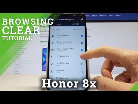 Clear Browser Data Honor 8x - Delete Chrome History / Reset Cookies