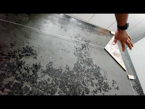 como tirar o esquadro para assentar Cerâmica na diagonal passo a passo parte 01
