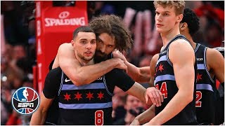Zach LaVine closes out dramatic Bulls vs. 76ers matchup   NBA Highlight
