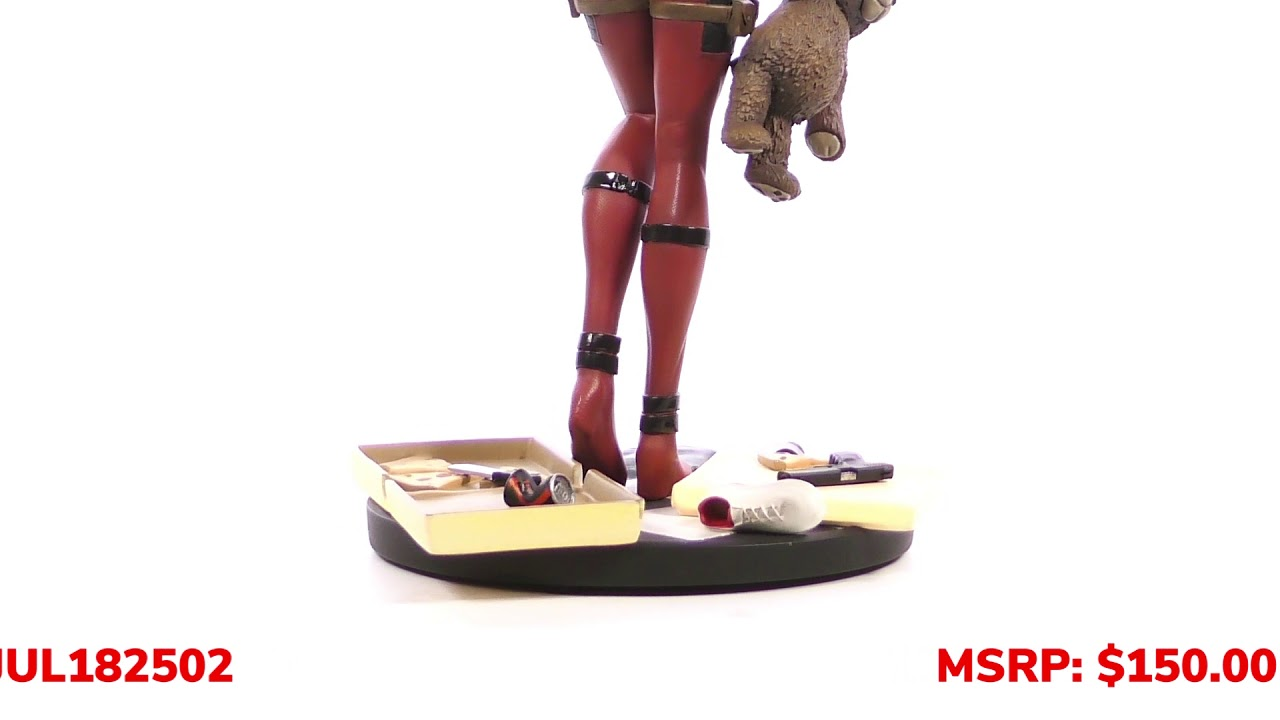 Marvel Comic Premier Collection Lady Deadpool Resin Statue Unboxing + 360
