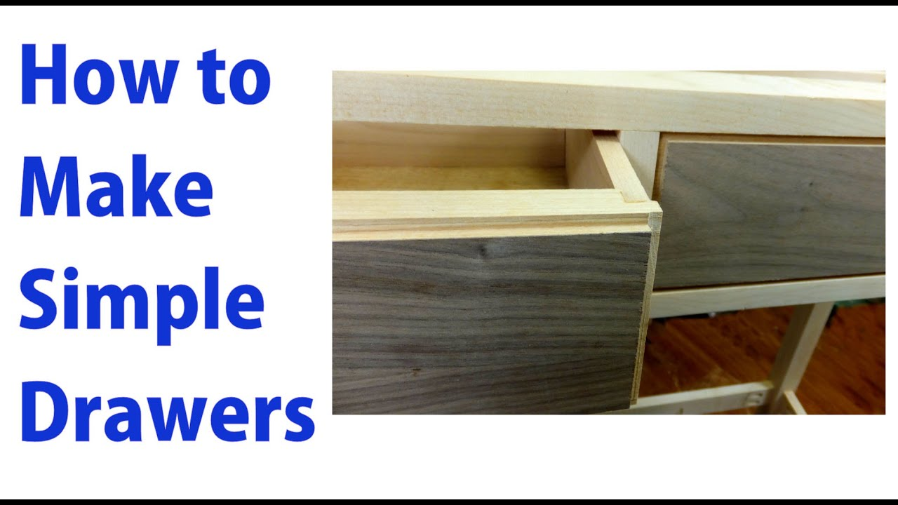 How To Make Simple Wooden Drawers Woodworkweb Youtube