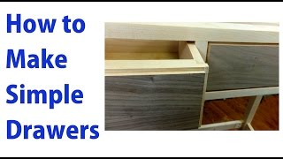 How To Make Simple Wooden Drawers -  A Woodworkweb  Woodworking Video