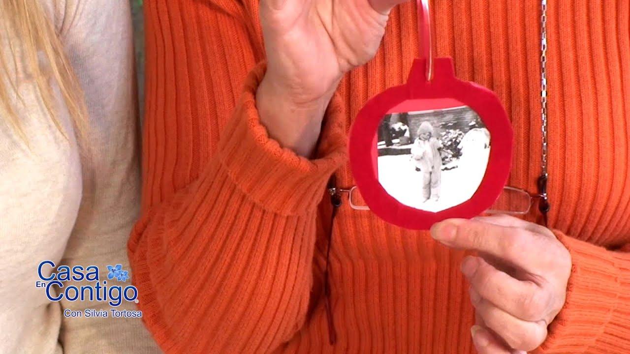 Bolas de arbol de navidad con retratos familiares youtube - Como hacer un cuadro con fotos familiares ...