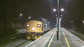 Acton Bridge 18.1.2016 - 37025 Inverness TMD on first mainline run before hire to Colas Rail