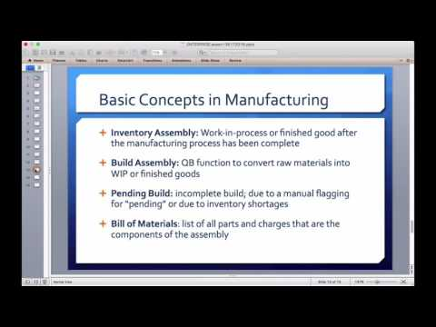 QuickBooks Enterprise for Manufacturing & Inventory Assemblies (ENTERPRISE.expert August 2016)