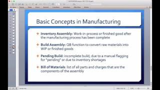 How to do manufacturing processes in quickbooks enterprise including: work process, inventory sub-assemblies, where used component replacement, bill of ma...