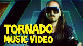 Tornado - Steve Aoki & Tiësto MUSIC VIDEO(Vote Aoki for DJ Mag Top 100: http://bit.ly/AokiTop100 Preorder Steve Aoki's