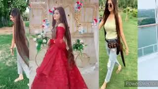New Long hair girl Tik Tok videos very beautiful long hair gaols 👏☺ shilpa7799