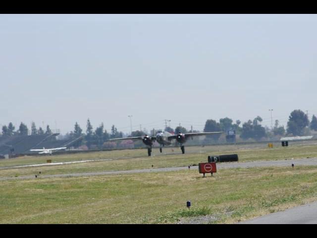 B25 takeoff at brackett airport