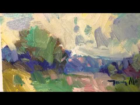 JOSE TRUJILLO Artist Painter. Original Oil on Canvas Painting. Impressionist Landscape 0029