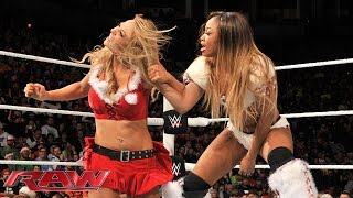 Santa's Helpers Six-Diva Tag Team Match: Raw, December 22, 2014