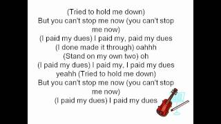 Anastacia - Paid my dues (lyrics)
