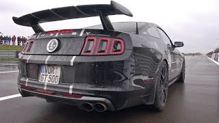 835HP Ford Mustang Shelby GT500 - REVS & DRAG RACE!