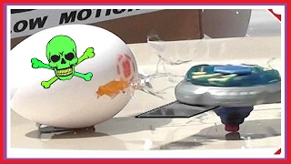 RIDICULOUSLY Dangerous BEYBLADE -  Real BLADES! thumbnail