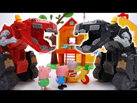 Thumbnail: Go Go Dinotrux~! D-Structs is Bullying Peppa Pig Friends