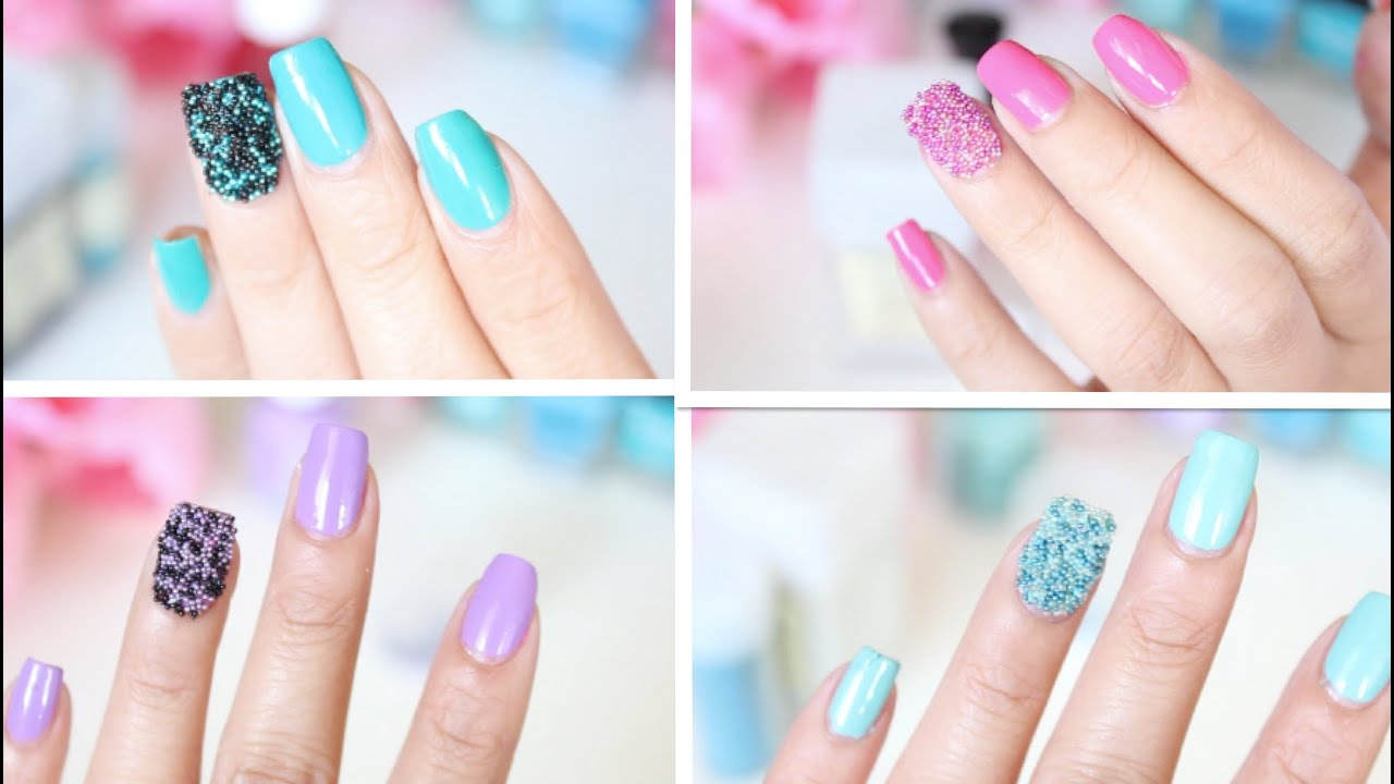 EASY DIY: Caviar Nails (microbeads/fish eggs nail tutorial ...