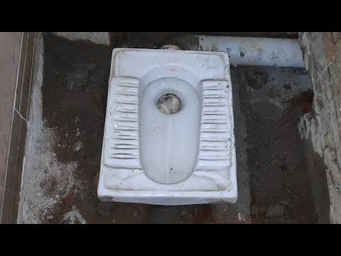 Indian toilet install, in Tamil || part 2