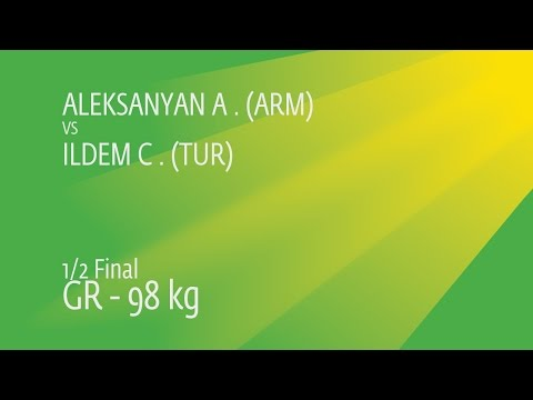 1/2 GR - 98 Kg: A. ALEKSANYAN (ARM) Df. C. ILDEM (TUR) By TF, 9-0