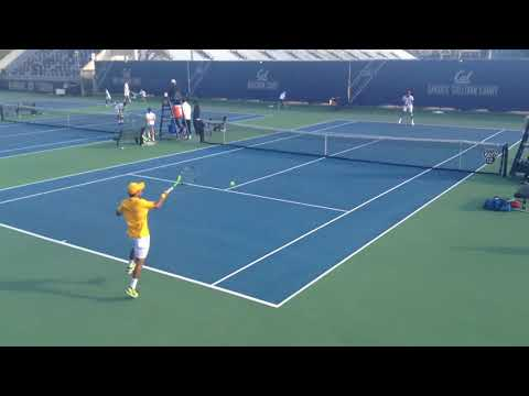 Cal vs Stanford #4 Singles End of Match 2-24-18