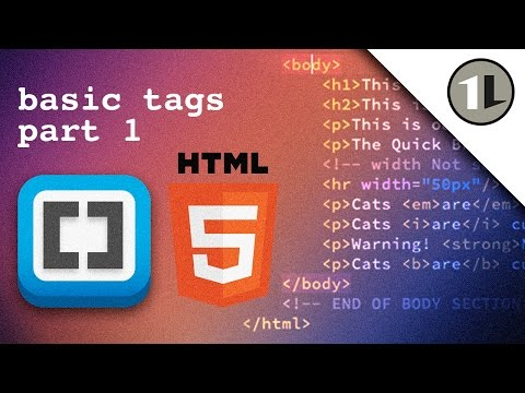 HTML5: Basic Tags Part 1