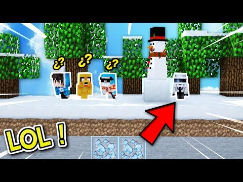 ¿NOS CONGELAREMOS EN ESTE ESCONDITE? ❄😱!! - MINECRAFT ESCONDITE