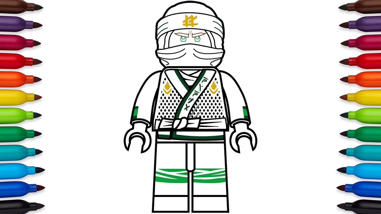 How To Draw Lego Ninjago Lloyd Garmadon From The Lego Ninjago Movie Youtube