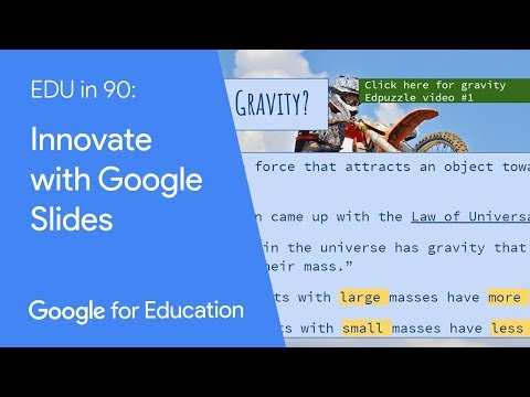 edu in 90 innovate with google slides