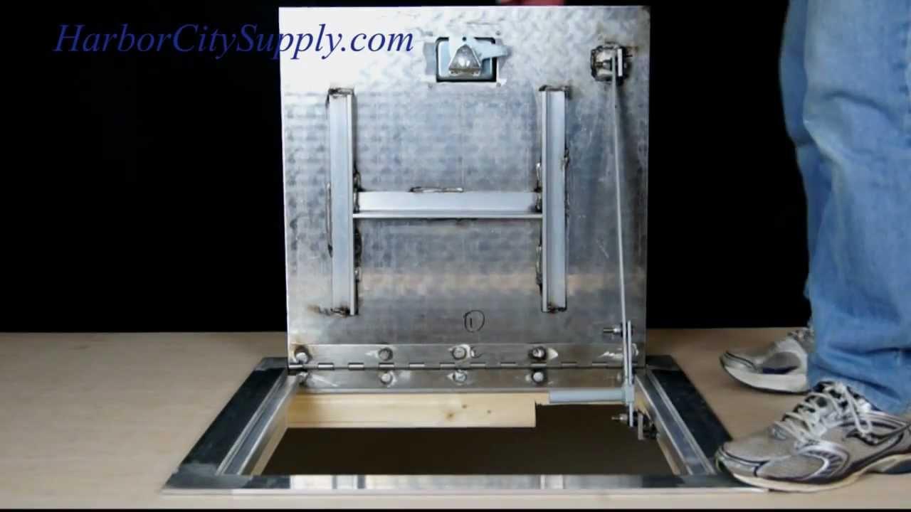 Cendrex Aluminum Floor Access Door Youtube