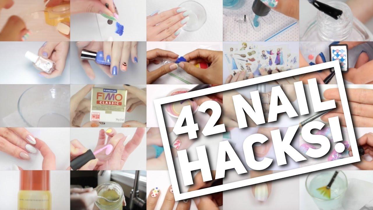42 NAIL HACKS! | Nail Art Hack Compilation - YouTube