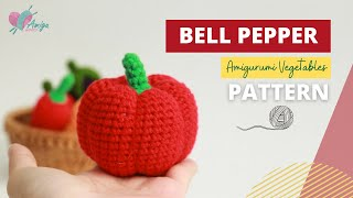 #029 | DIY Vegetable Amigurumi | How to crochet a Bell Pepper amigurumi | Free Pattern | AmiguWorld