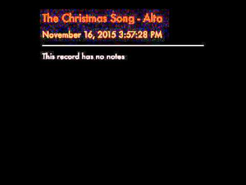 The Christmas Song - Alto