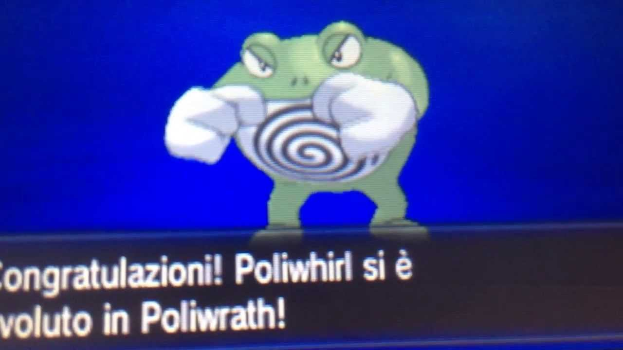 pokemon x shiny poliwhirl evolve in shiny poliwrath hd