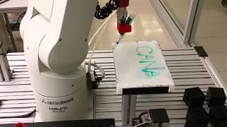 Motion Control Lab 2- Using the Mitsubishi Arm to Write