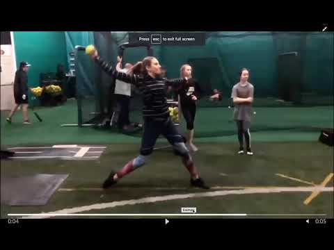 Fastpitch Softball Pitching Mechanics Online Video Evaluation Example