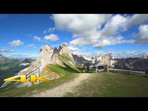 Dolomites Seceda Puez Odle Hike Italy 4K 🇮🇹