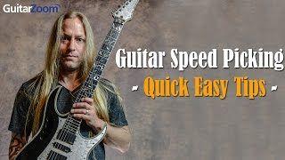 Quick & Easy Tips To Master Speed Picking On The Guitar | Steve Stine | GuitarZoom.com